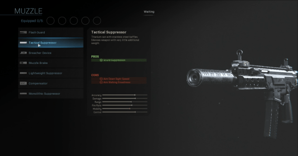 CoD: MW 2019 | Tactical Suppressor - Muzzle Stats | Call of Duty ...