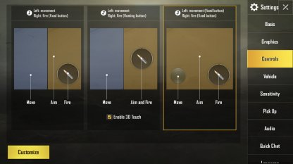 PUBG Mobile Recommended Settings Controls