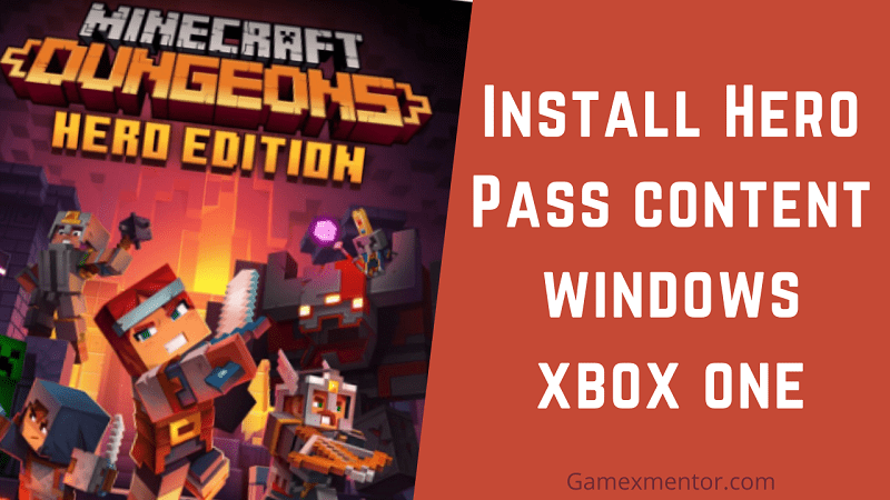 How to Install Hero Pass content Minecraft dungeons