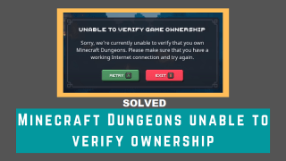 Unable to Verify Game Ownership_ Error Explained in Minecraft Dungeons