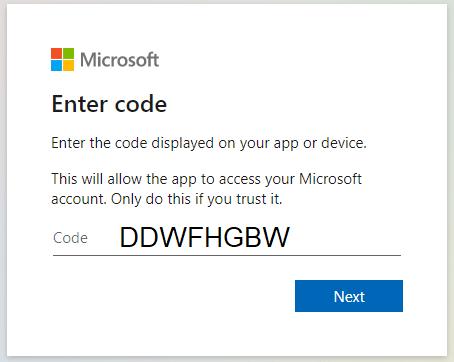 enter code ps4