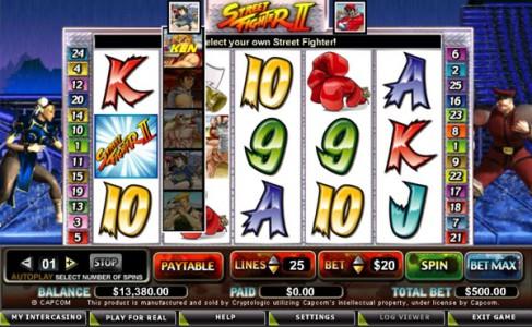 Zu Street Fighter II gibt es unlängst ein Slot-Machine Spiel in diversen Online-Casinos