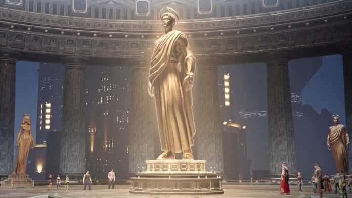 Skyforge Adepten Statue