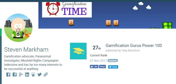 Gamification Guru Power 100 no.27!