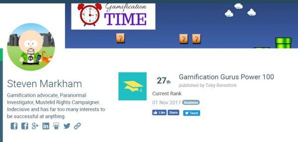 Gamification Guru Power 100 no.27!