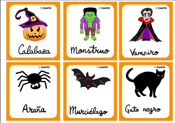 flashcards halloween español