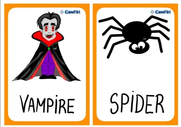 flashcards halloween inglés