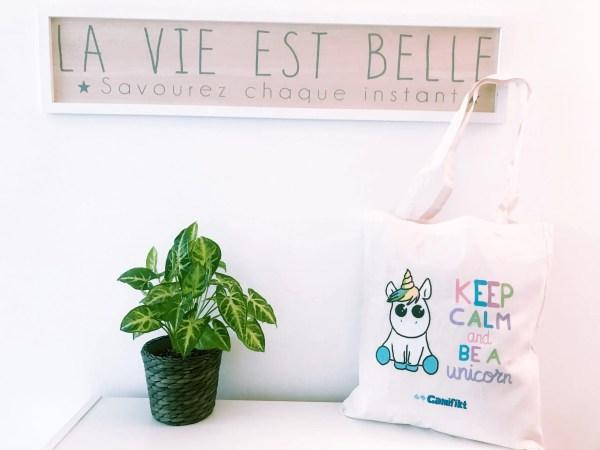 "Tote bag ""Keep calm and be a unicorn"""