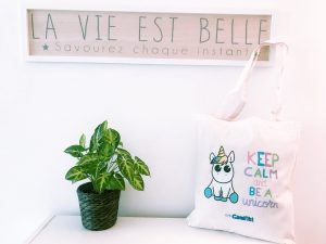 "Tote bag ""Keep calm and be a unicorn"""