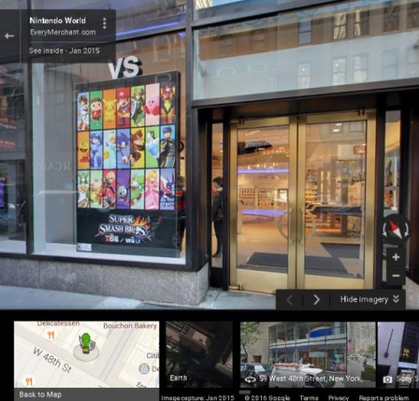 nintendo google maps