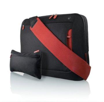 Belkin F8N051eaBR Kuriertasche (für Notebooks bis zu 43,2 cm (17 Zoll)) schwarz/rot - 2