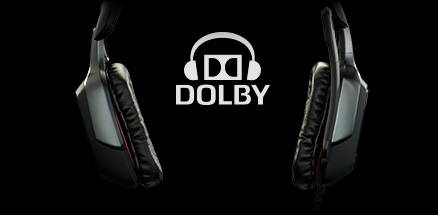G35 earpieces and Dolby logo
