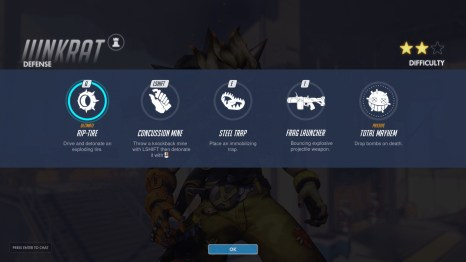 Junkrat Defence Abilities Overwatch