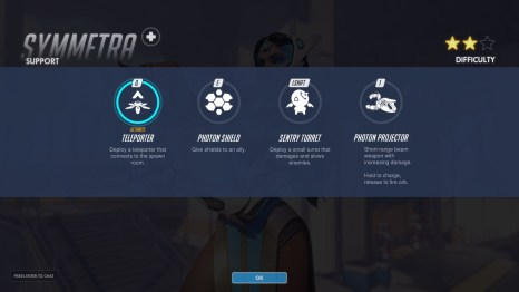 Symmetra Support Abilities Overwatch