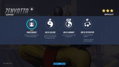 Zenyatta Support Abilities Overwatch
