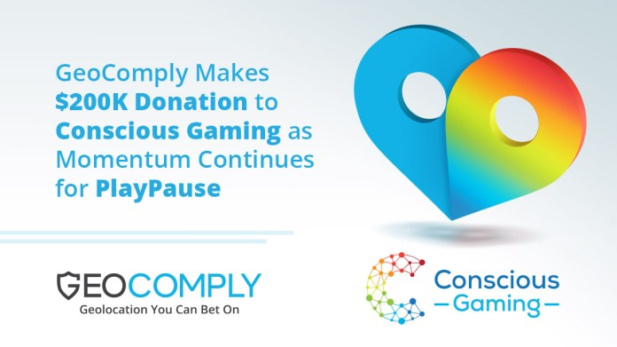 GeoComply Makes $200,000 Donation to Conscious Gaming