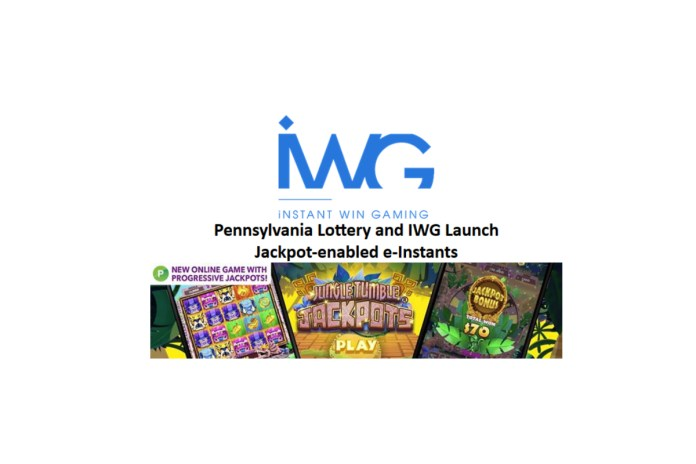 Pennsylvania Lottery and IWG Launch Jackpot-enabled e-Instants