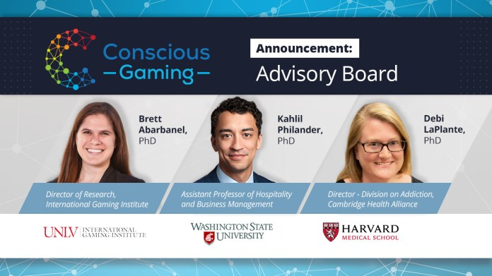 Conscious Gaming Appoints Three Members to Newly Created Advisory Board – Deepens Commitment to Responsible Gaming Effectiveness