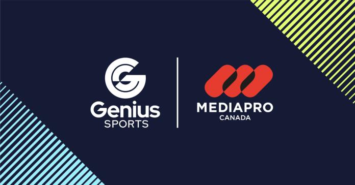 Genius Sports Enters into Strategic Partnership with MEDIAPRO Canada