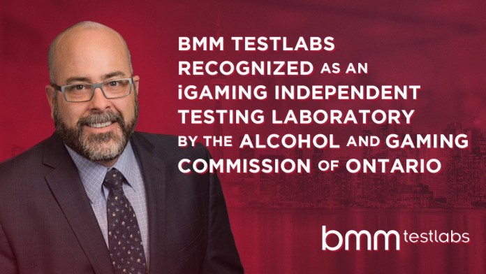 BMM Testlabs recognized as an iGaming independent testing laboratory by the Alcohol and Gaming Commission of Ontario