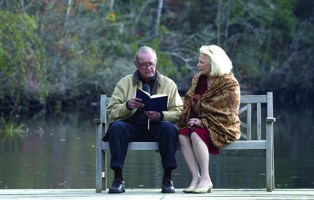 "Film Title: The Notebook. James Garner (left) stars as ""Duke"" and Gena Rowland (right) stars as ""Allie"" in New Line Cinema's epic story of love lost and found, THE NOTEBOOK. Photo: 2004 Melissa Moseley/New Line Productions."