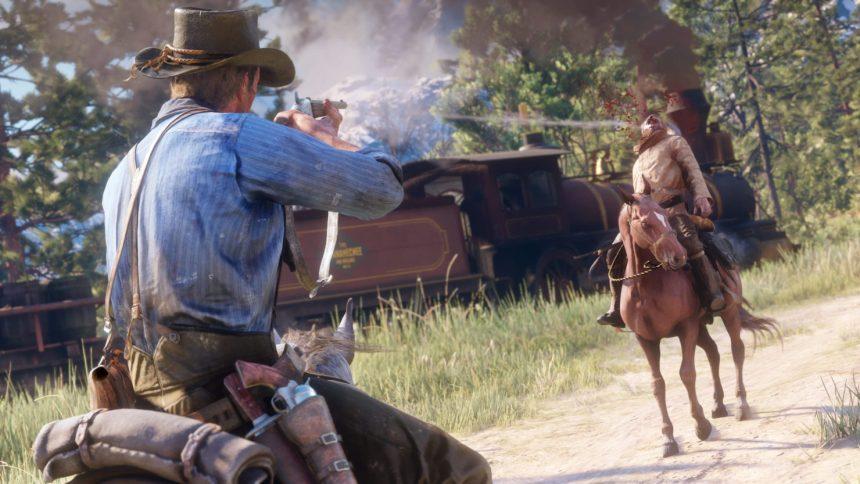 Red Dead Redemption 2 PC horseback Shooting