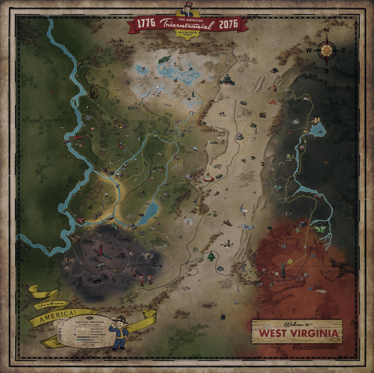 Fallout 76s Full World Map Revealed Looks Massive