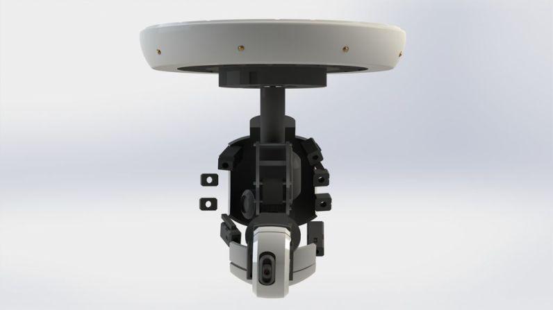 Die GlaDOS-Deckenlampe. (Foto: Instructables)
