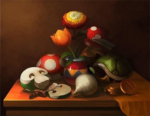 Super Mario Bros. Stilleben (Foto: Elizabeth Sherry)