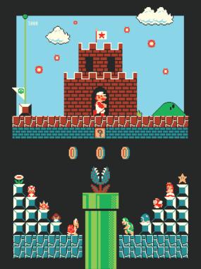 Super Mario Level One Poster. (Foto: Harlan Elam)