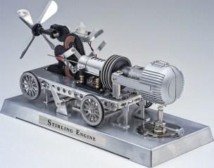 Lernpaket Stirlingmotor. (Foto: Franzis)