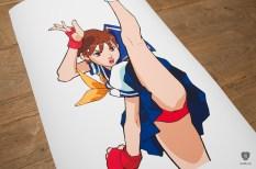 Street Fighter Kunstdrucke. (Foto: Cook&Becker / Capcom(