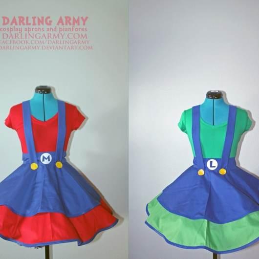 Diese Kleider von Mario und Luigi könnt ihr jeweils für 80 US-Dollar erwerben. (Foto: darling-army.goodsie.com)