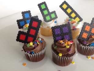 Pixel Cupcake Toppers. (Foto: JustALevel)