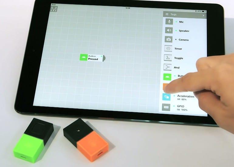 Fingerbedienung statt Programmierung. Eine gute Idee. (Foto: Mesh)
