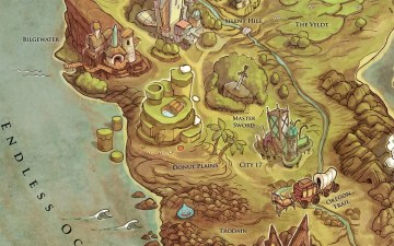 Videogames World Map. (Foto: iam8bit.com)