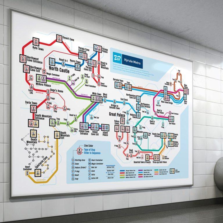 NES Maps: Videospiel-Klassiker als U-Bahn-Streckennetz