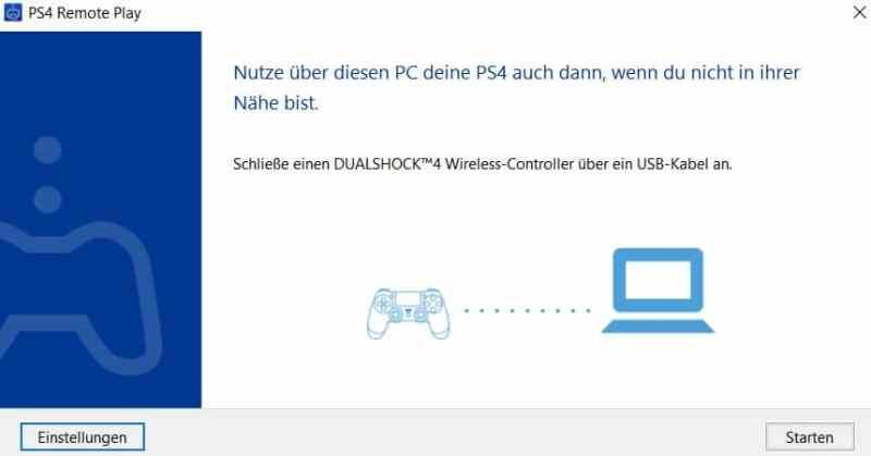Der DualSchock 4-Controller wird via USB verbunden. (Foto: Screenshot)