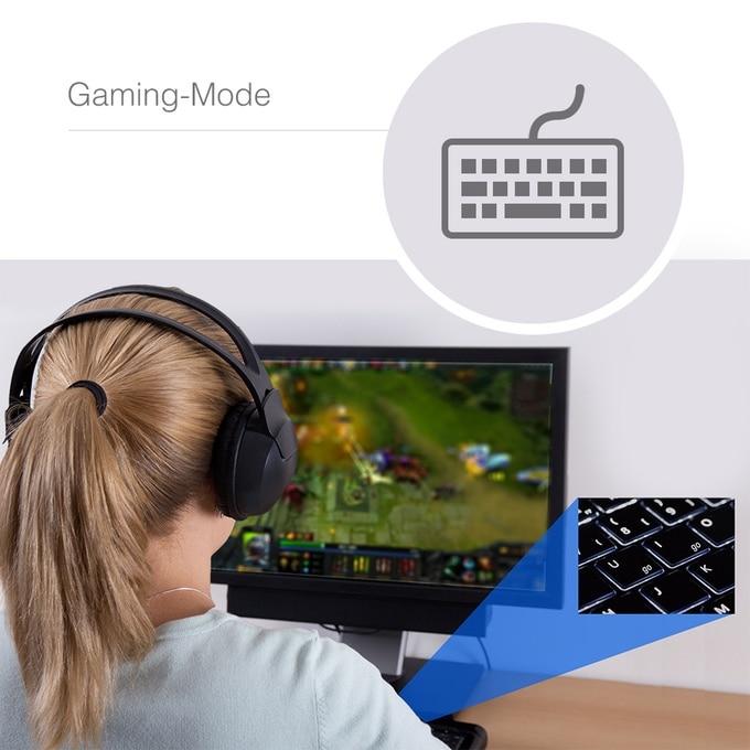 Ein spezieller Gaming-Modus für Windows ist vorhanden. (Foto: mydbell)