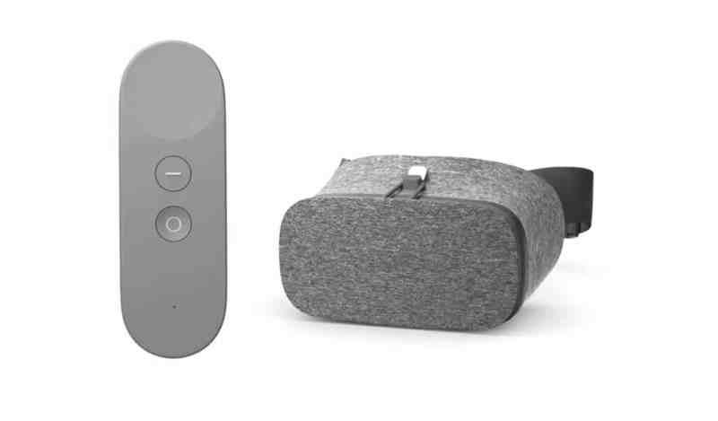 VR-Brille und Remote. (Foto: Google)