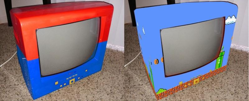 Jon überlegte auch, den Fernseher noch optisch zu ändern. (Foto: Hackaday)