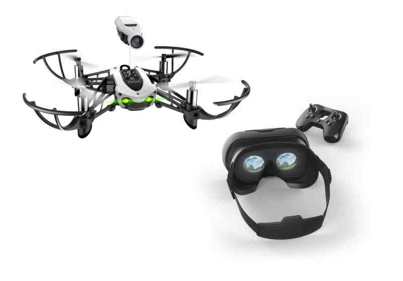 Klein, mit aufsteckbarer Kamera und VR-Brille. (Foto: Parrot)