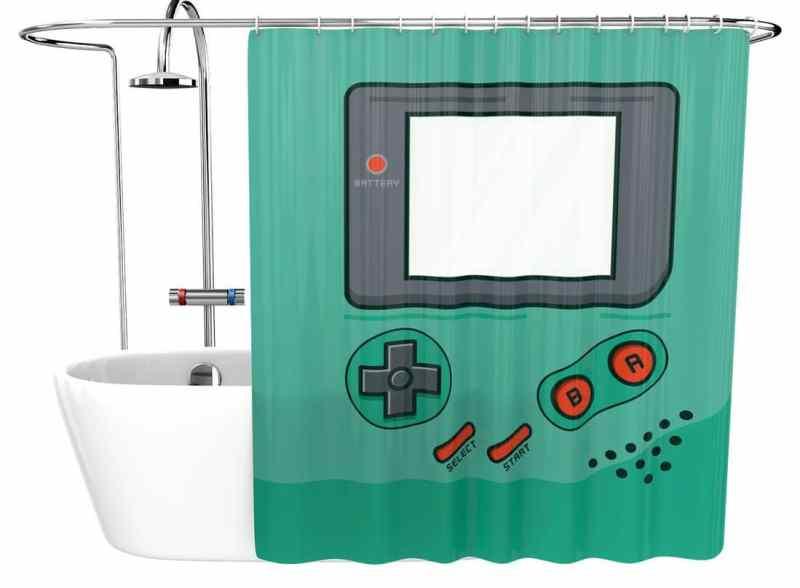 Sieht der Gameboy Duschvorhang nicht gut aus? (Foto: GetDigital)