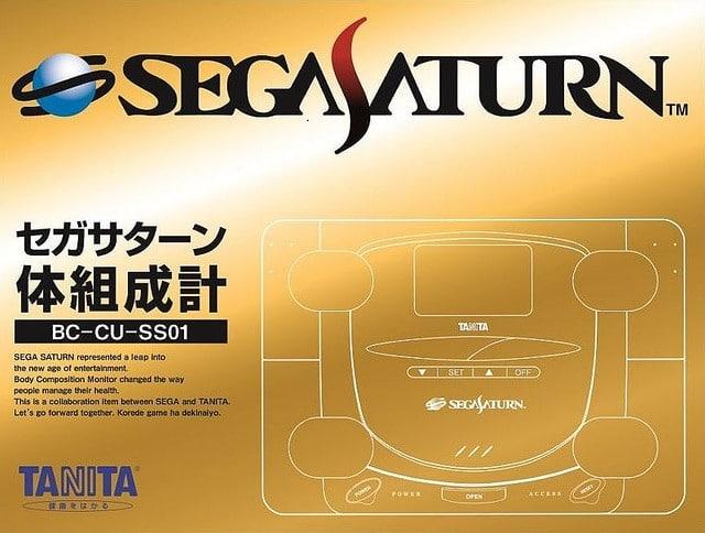 Die Verpackung der Sega Saturn-Personenwaage. (Foto: Tanita)