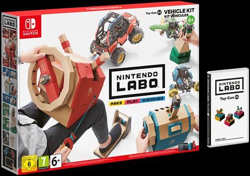 Die Verpackung vom Fahrzeug-Set für Nintendo Labo. (Foto: Nintendo)
