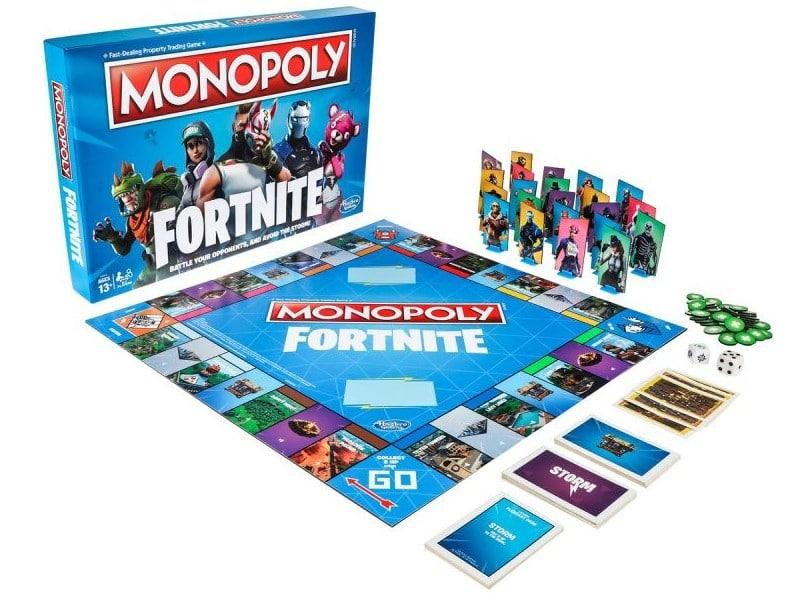 Das Spielfeld von Fortnite Monopoly. (Foto: Hasbro)