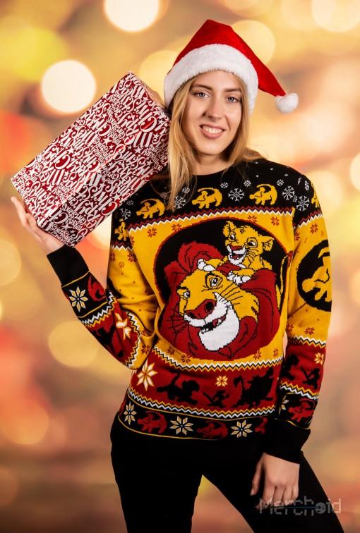 König der Löwen? Lustiger Weihnachtspullover. (Foto: Merchoid)