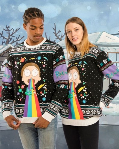 Rick and Morty Weihnachtspullover. (Foto: Merchoid)