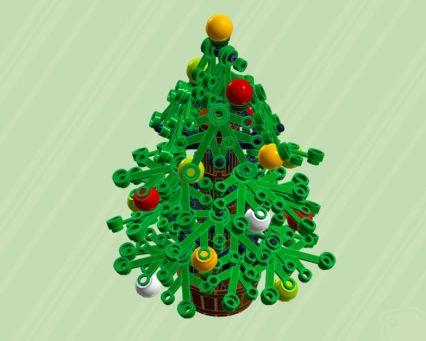 LEGO-Weihnachtsbaum im typischen Grün. (Foto: ChrisMcVeight)