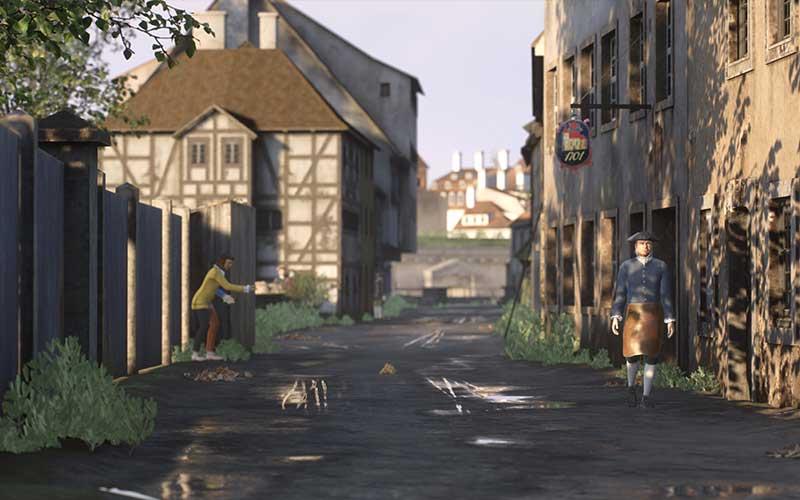 Hier eine Szene aus TimeRide VR Dresden. (Foto: TimeRide VR)